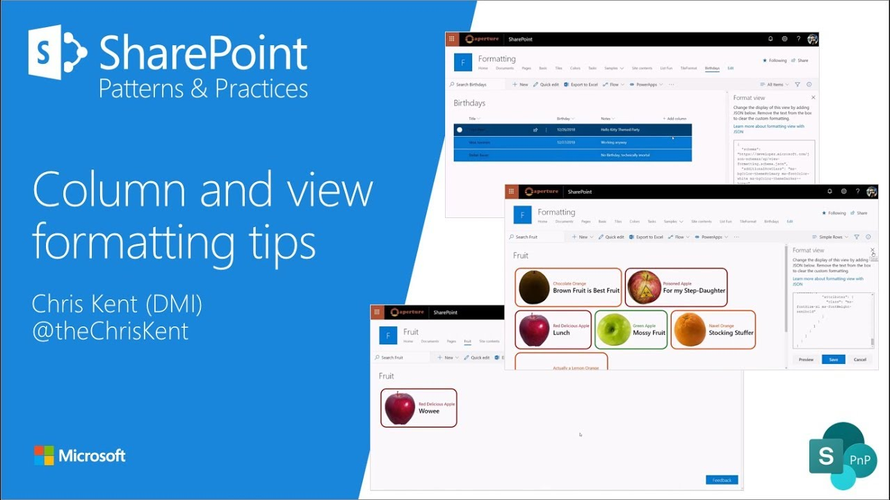 Community Demo - SharePoint column and view formatting tips (multiple)