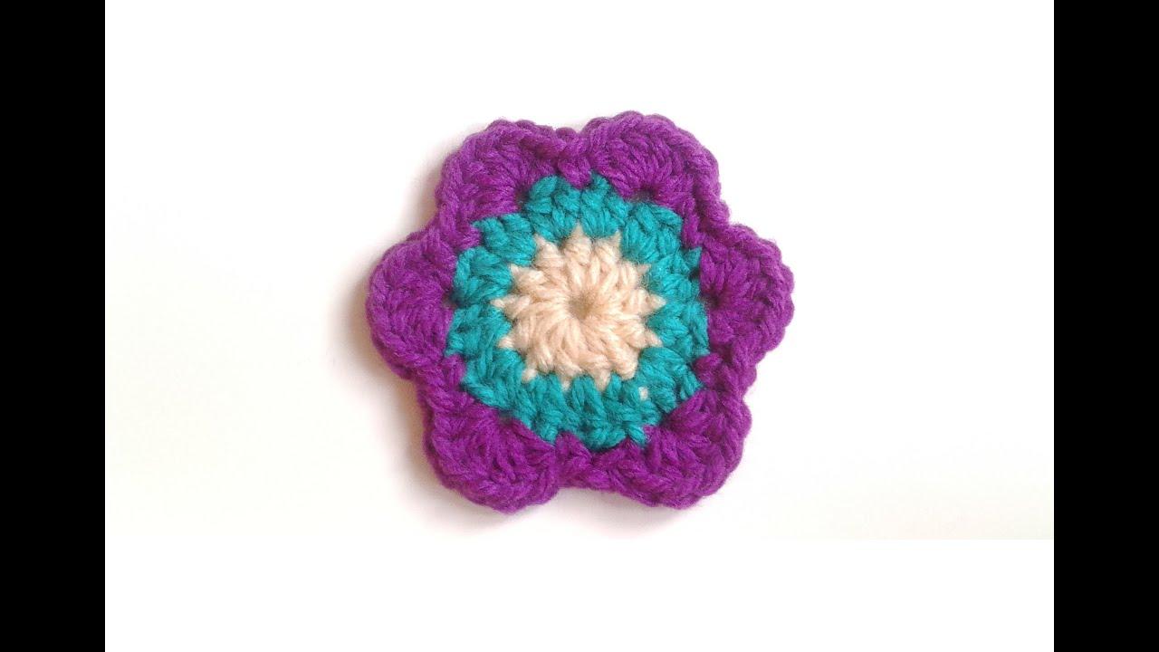 Tutorial flor crochet o ganchillo flower flor de - Como hacer flores de ganchillo ...