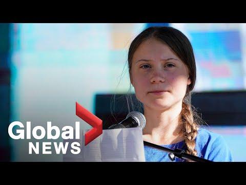 'We'll make them listen': Greta Thunberg addresses Youth Climate Strike in Los Angeles