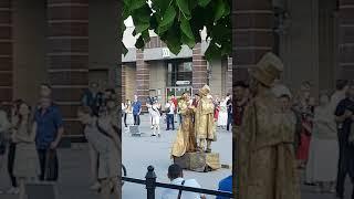Living statues, St. Petersburg. World cup season 2018
