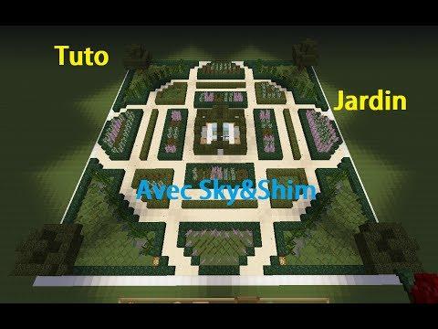 Sky  Shim Tuto minecraft jardin  la franaise  YouTube