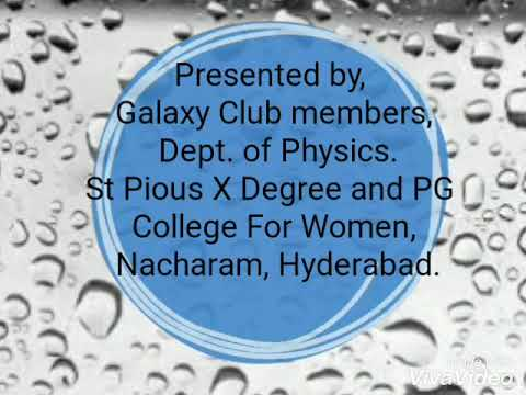 Campaign for Water Conservation -Galaxy Club,Dept of Physics, St.Pious X college.
