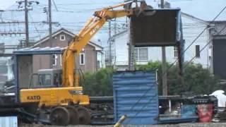 山陽本線新南陽駅に廃車回送された貨車ワム80000形が解体されてました、