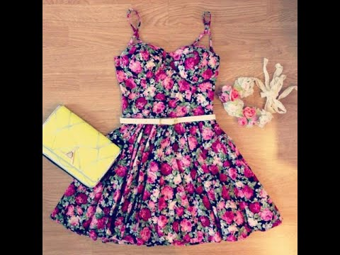 Outfits Vestidos Floreados - YouTube