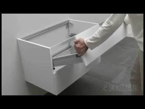 Compab Mobili Arredo Bagno  Inserimento e regolazione cassetti Guide e Video fai da te  YouTube