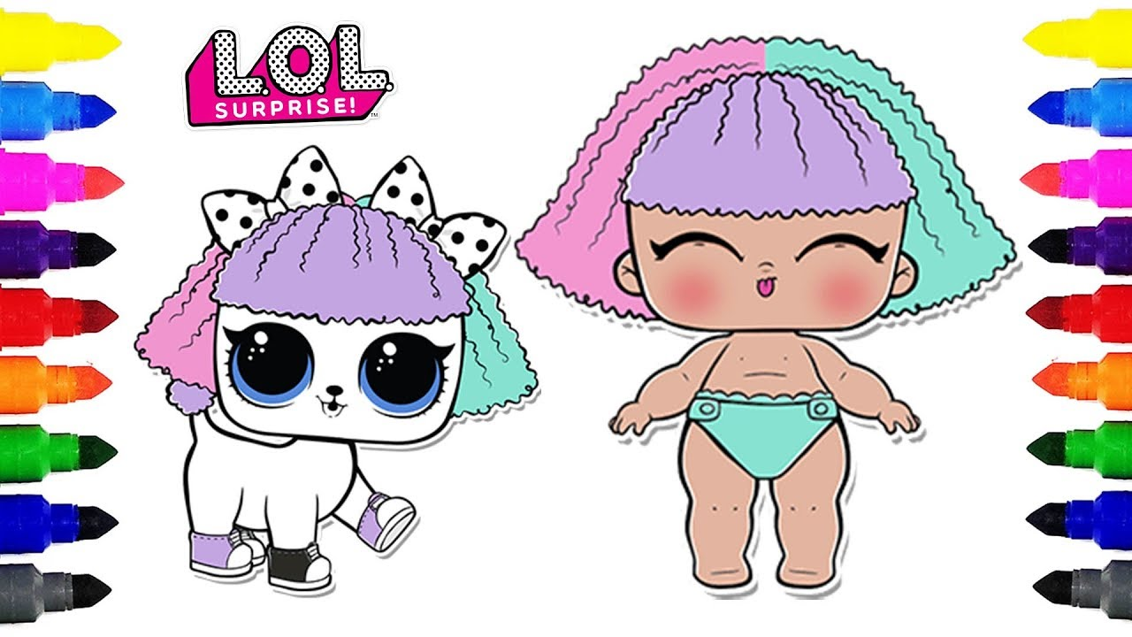 LOL Surprise Doll Lil Pranksta and Pupsta Coloring Pages