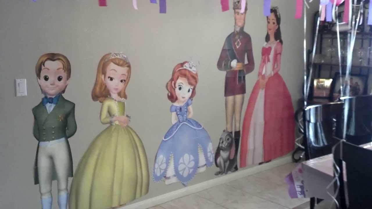 Sofia the First Birthday Party Decorations - YouTube