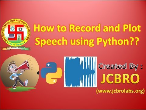 How to Record Sound/Speech using Python??