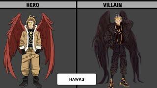 MY HERO ACADEMIA HEROES IN VILLAIN FORM | AnimeData PH | MHA | BNHA