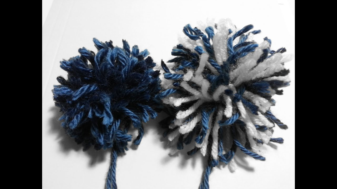 How To Make A Pom Pom By Hand For Beginners Youtube