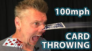 HOW to THROW CAŔDS 100mph + Real Life Trick Shots!!
