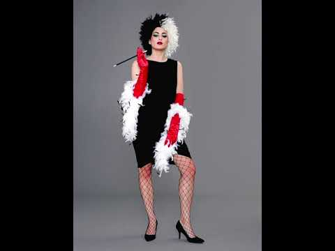 cruella de vil costume youtube. Black Bedroom Furniture Sets. Home Design Ideas