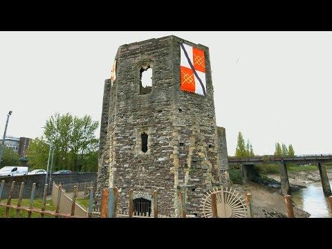 Newport Castle Remains, South Wales 4K UHD