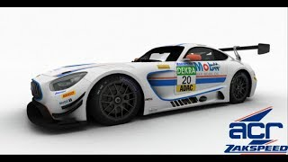 Blancpain Sprint Series on iRacing around Road America in Mercedes AMG GT3 - Setup Test and Race
