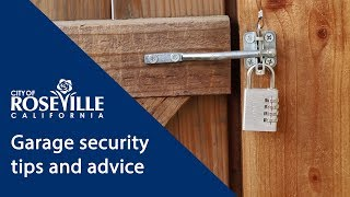 City of Roseville, CA - Home Security Tips and Advice