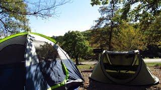 Camping in Turner Falls, Oklahoma
