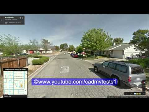 Hemet, California behind the wheel test route # 1