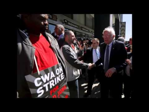 Unions endorse Sanders, Clinton for president as NY race nears