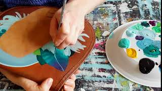 How to paint on leather bags - artist Nina Valkhoff