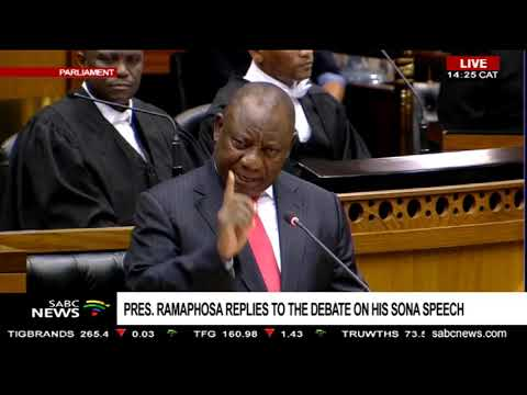 #SONAReply: President Ramaphosa responds to allegations made by Lekota Part 2