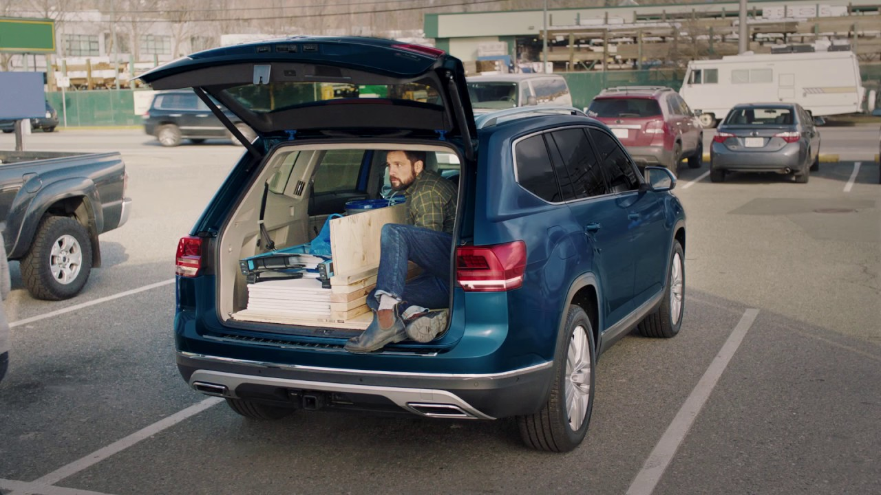 Folding Seats Of The 2018 Atlas Vw Suv Volkswagen Canada Youtube