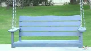 Cape Maye Weathered Porch Swing In Wedgewood Blue - Product Review Video