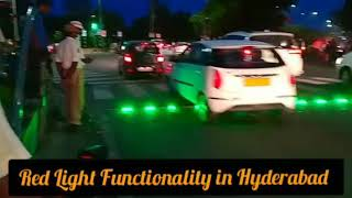 Traffic Signal Functionality in Hyderabad   Red Light is given on Road instead of Post