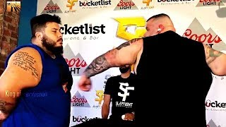 200 kg big Frank vs Bouncer. Slap contest 2019