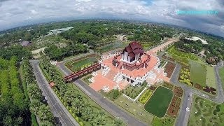 Royal Flora Ratchaphreuck in Chiang Mai Drone in Thailand