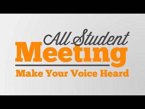 All Student Meeting - 2014/15 Term 3 - Full Debate