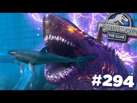 MEGA SHARK RETURNS!!!    Jurassic World - The Game - Ep294 HD