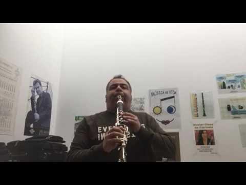 Frullato o Flatterzunge clarinet