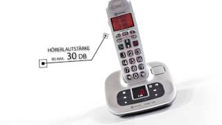 Produktvideo zu Schwerhörigen-Telefon Amplicomms BigTEL 1280