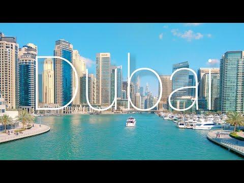 Dubai Marina. Пляж. Лазерное шоу на Burj Khalifa. Февраль 2019.