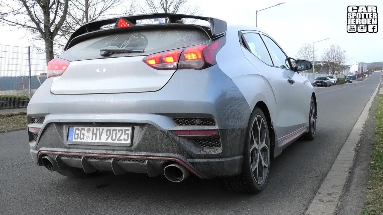 SPYSHOT | (DCT?) Hyundai Veloster N 2019 with Active Sport Exhaust