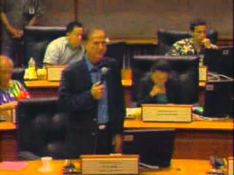 Rep. Gene Ward Addresses HR88 and HCR117 - Micronesia; Palau; Marshall Islands