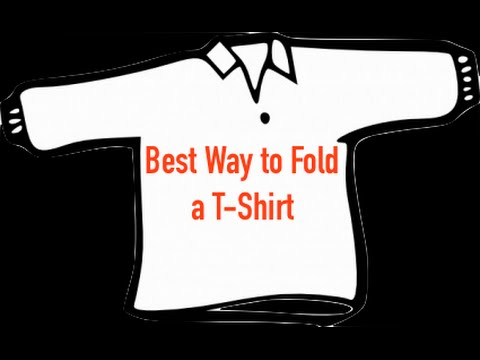How to actually fold a t shirt best way youtube for Best way to print t shirts