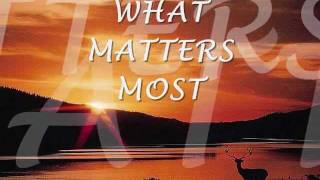 WHAT MATTERS MOST - Kenny Rankin (Lyrics)