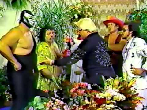 Bobby Heenan meets The Machines on The Flower Shop, 1986