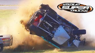 Worst Stadium Super Truck Crashes of 2017 - CBS Sports Compilation