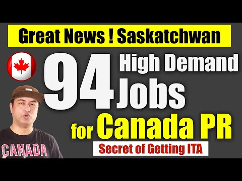 High Demand Jobs In SINP To Get Canada PR In 2020
