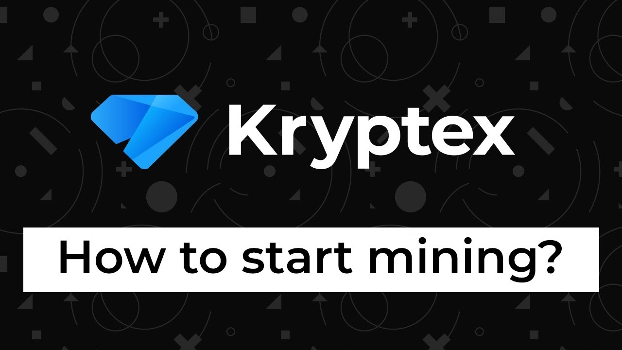 How to start mining with Kryptex?