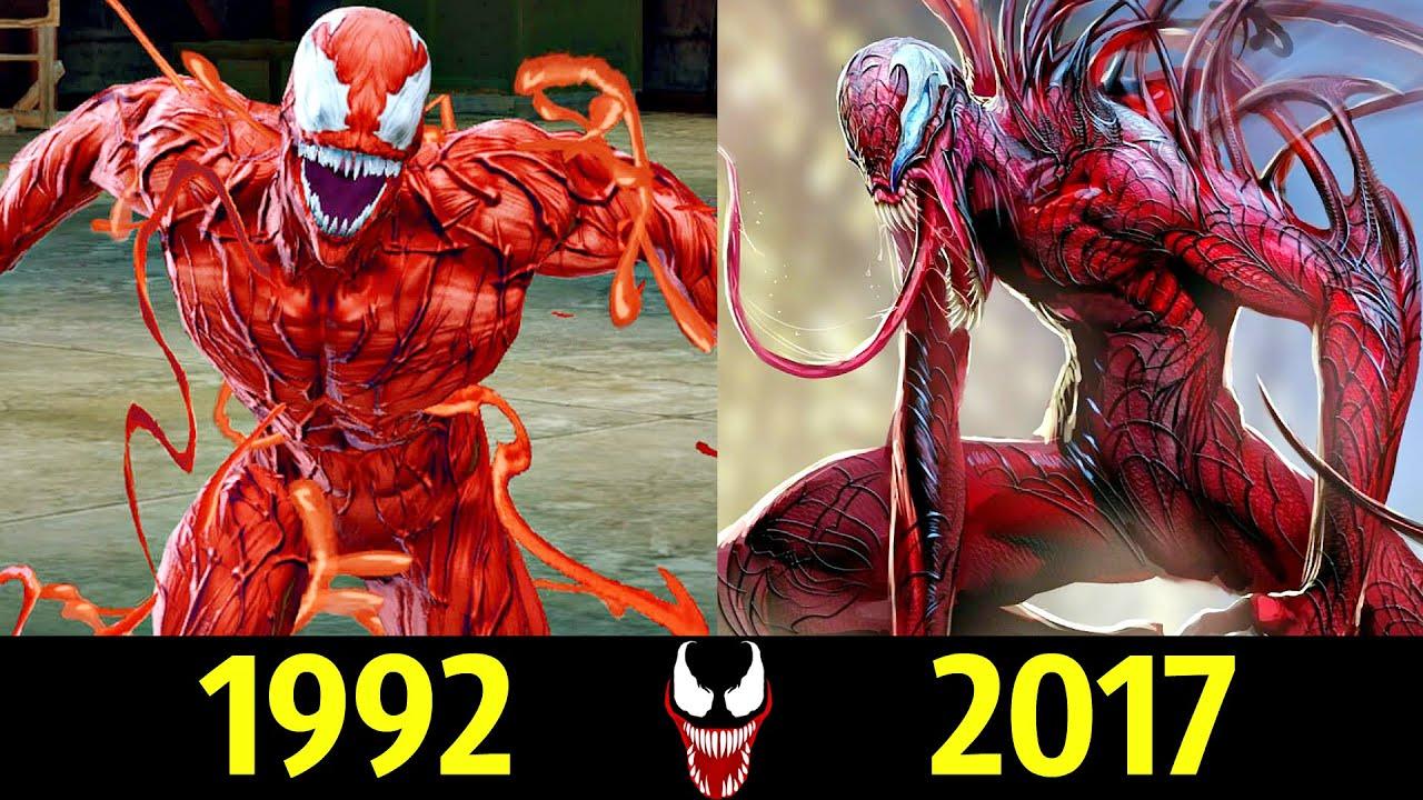 😡 Карнаж - Эволюция (1992 - 2017) ! Все Появления в ИГРАХ 😱!