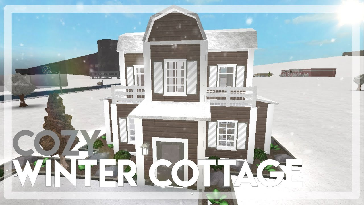 Bloxburg Cozy Winter Cottage Youtube
