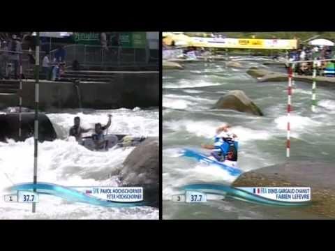 The Hochschorners vs Gargaud/Lefevre - 2010 Worlds Canoe Slalom Tacen