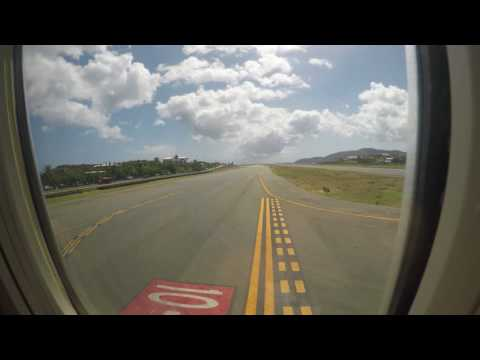 Landing in St. Thomas, US Virgin Islands at Cyril E. King Airport in 4K