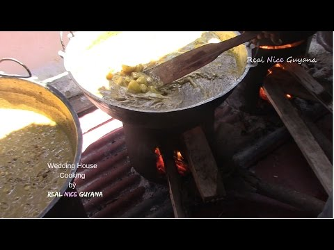 Guyana, Caribbean Hindu Wedding House Cooking (HD)