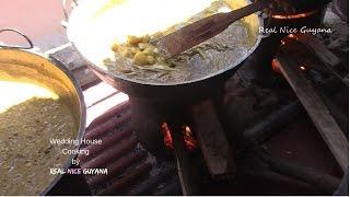 Guyana Hindu Wedding House Cooking II Real Nice Guyana (HD)