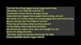 Rick Ross - In Vein Ft. The Weeknd (Lyrics On Screen)
