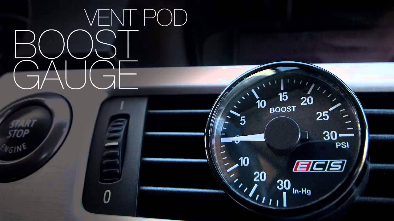 Ecs Tuning Bmw E9x 335i Vent Pod Boost Gauge Youtube